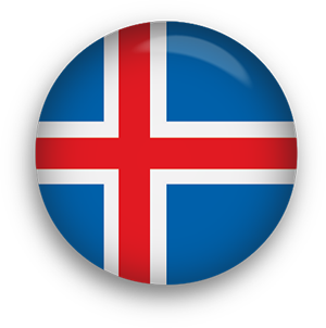 iceland flag button 1